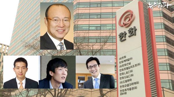 ▲ 한화S&C는 김승연 회장의 아들 김동관(50%), 동원(25%), 동선(25%)씨가 100% 지분을 보유하고 있는 IT서비스 회사다.