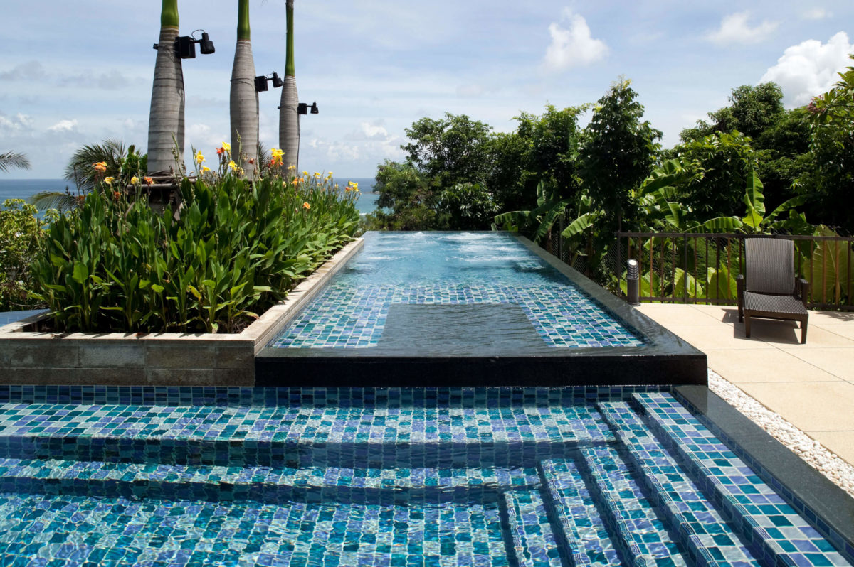 Glass Tiles Add To The Custom Swimming Pool Experience