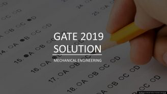 GATE 2019 MECHANICAL SOLUTION