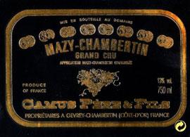 Hubert Camus Mazy-Chambertin Grand Cru