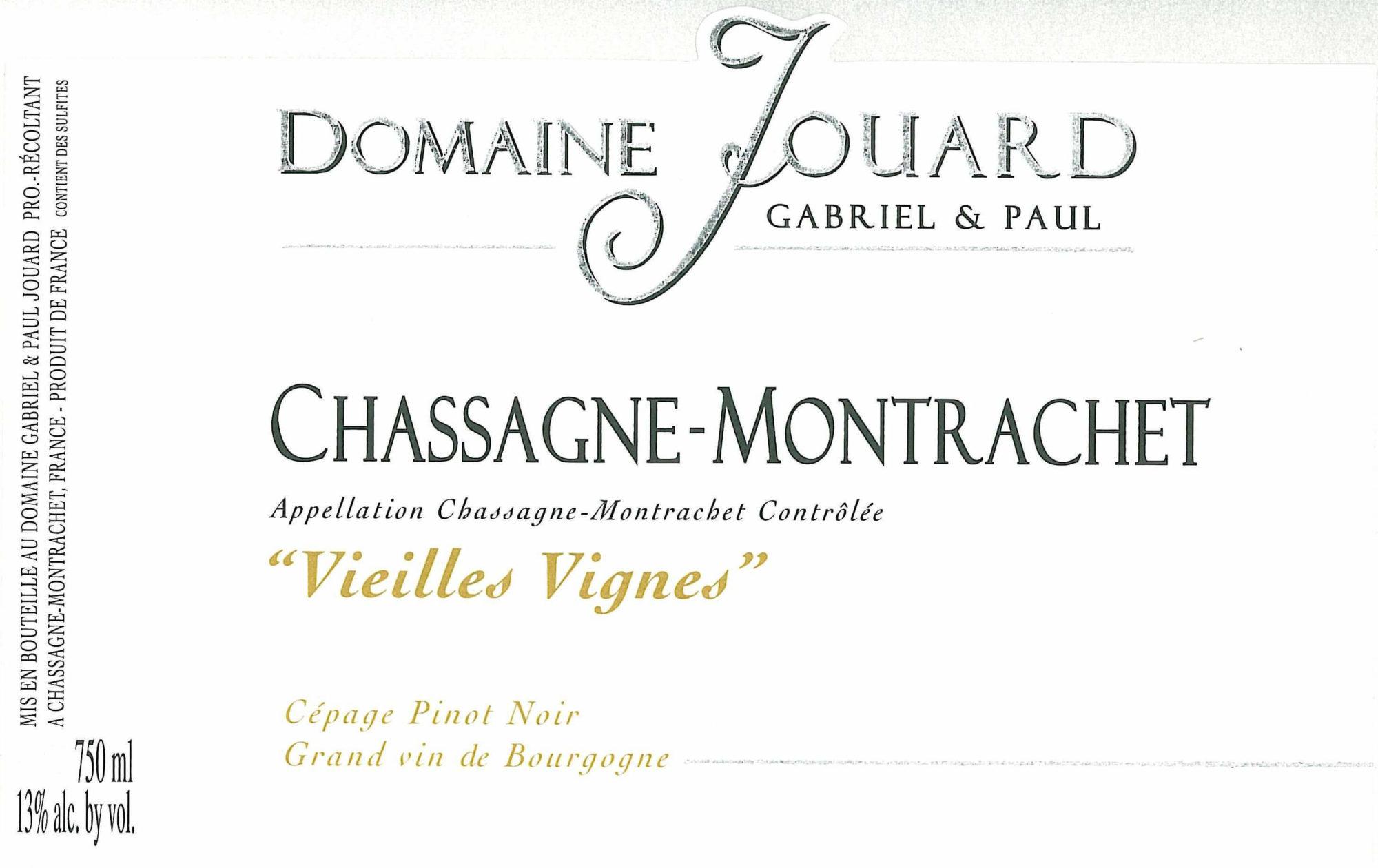 Paul Jouard Chassagne-Montrachet Vieilles Vignes