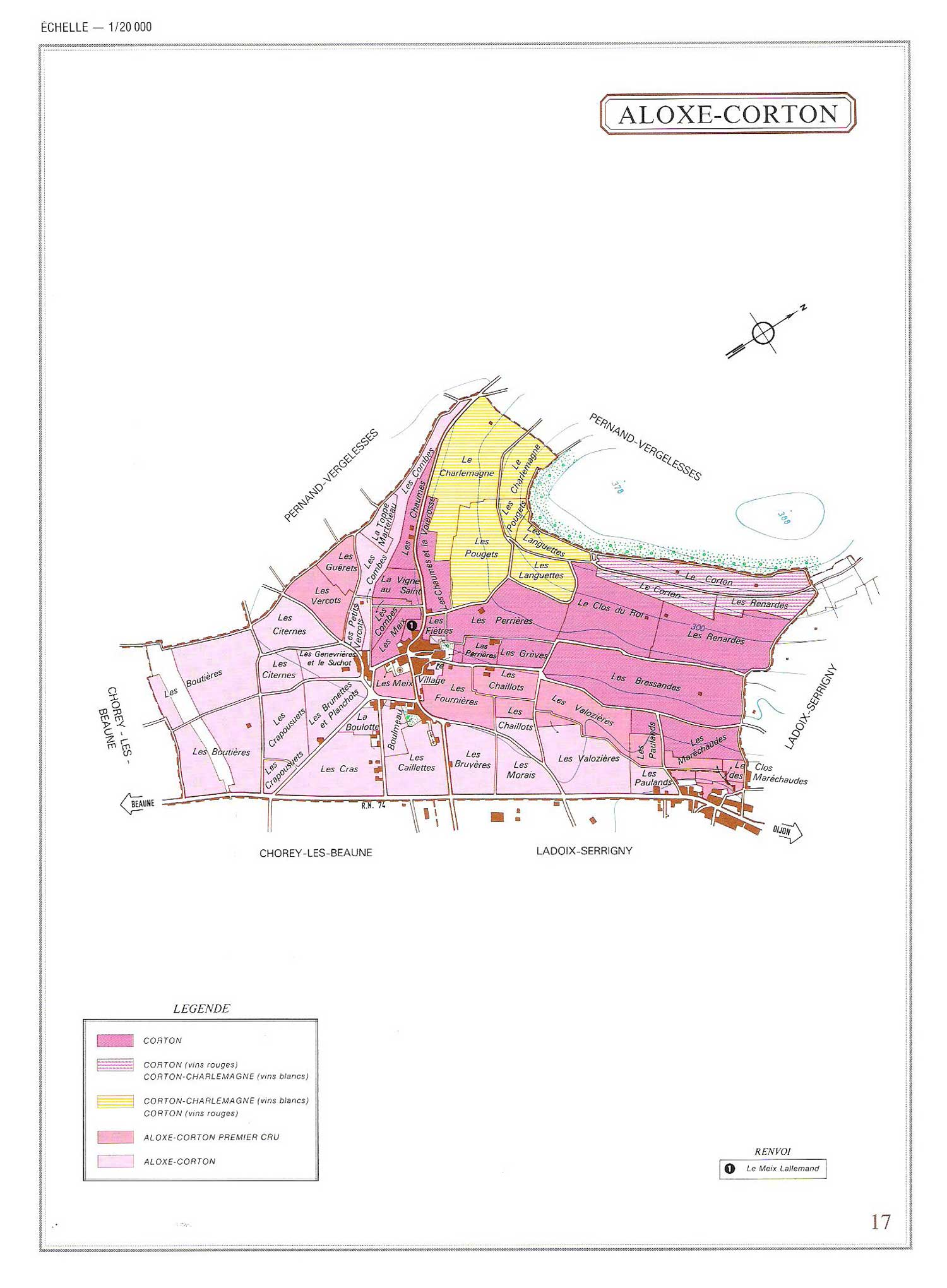 Picture of Aloxe-Corton Vineyard Map