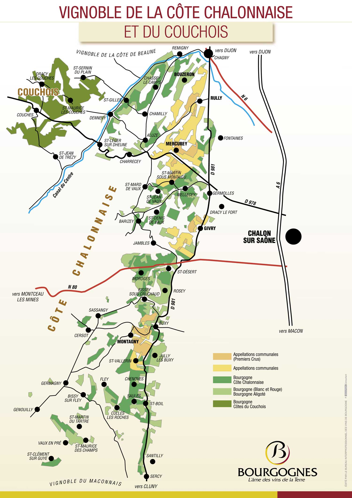 Picture of Cote Chalonnaise Vineyard Map