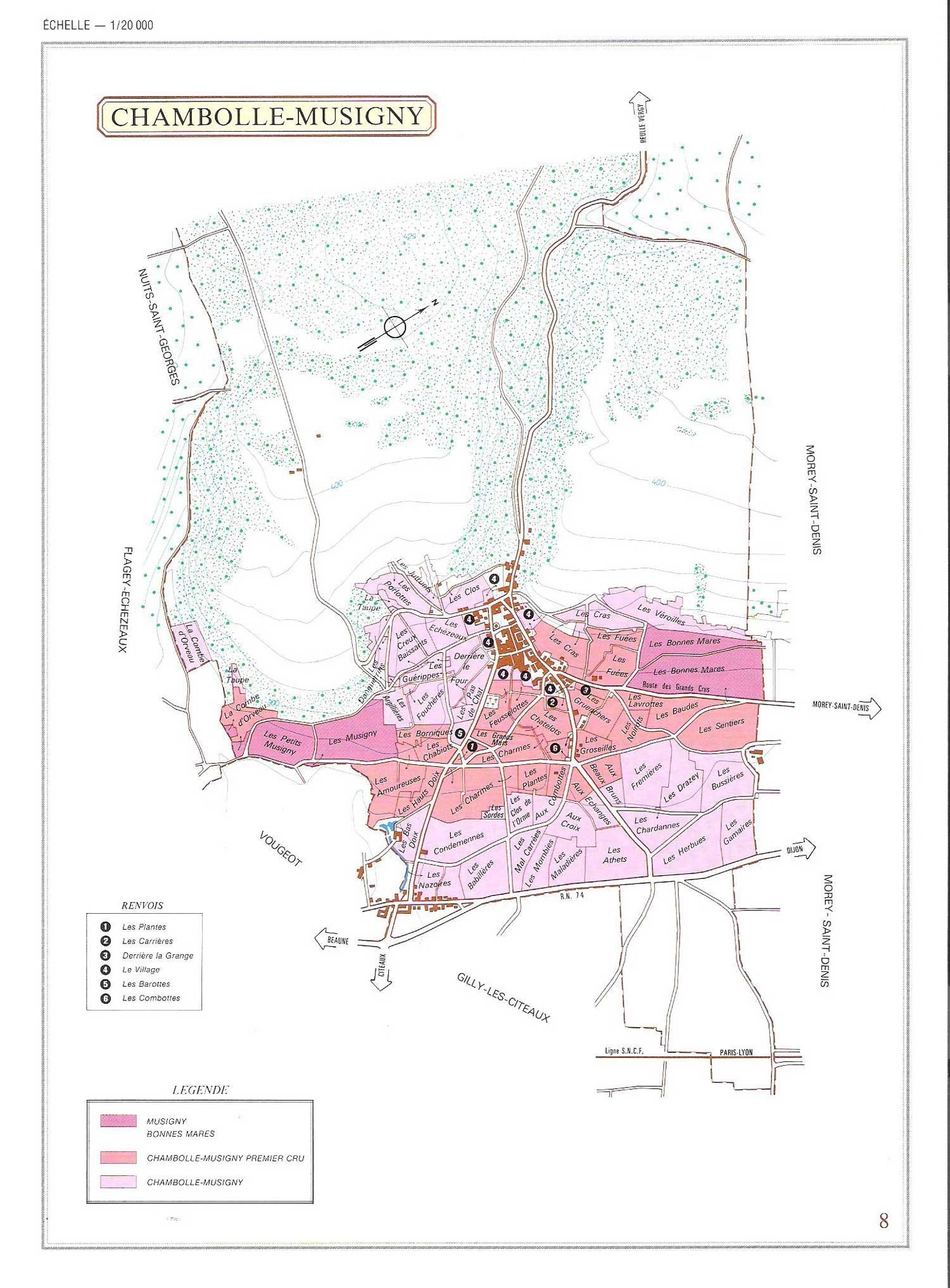 Picture of Chambolle-Musigny Vineyard Map