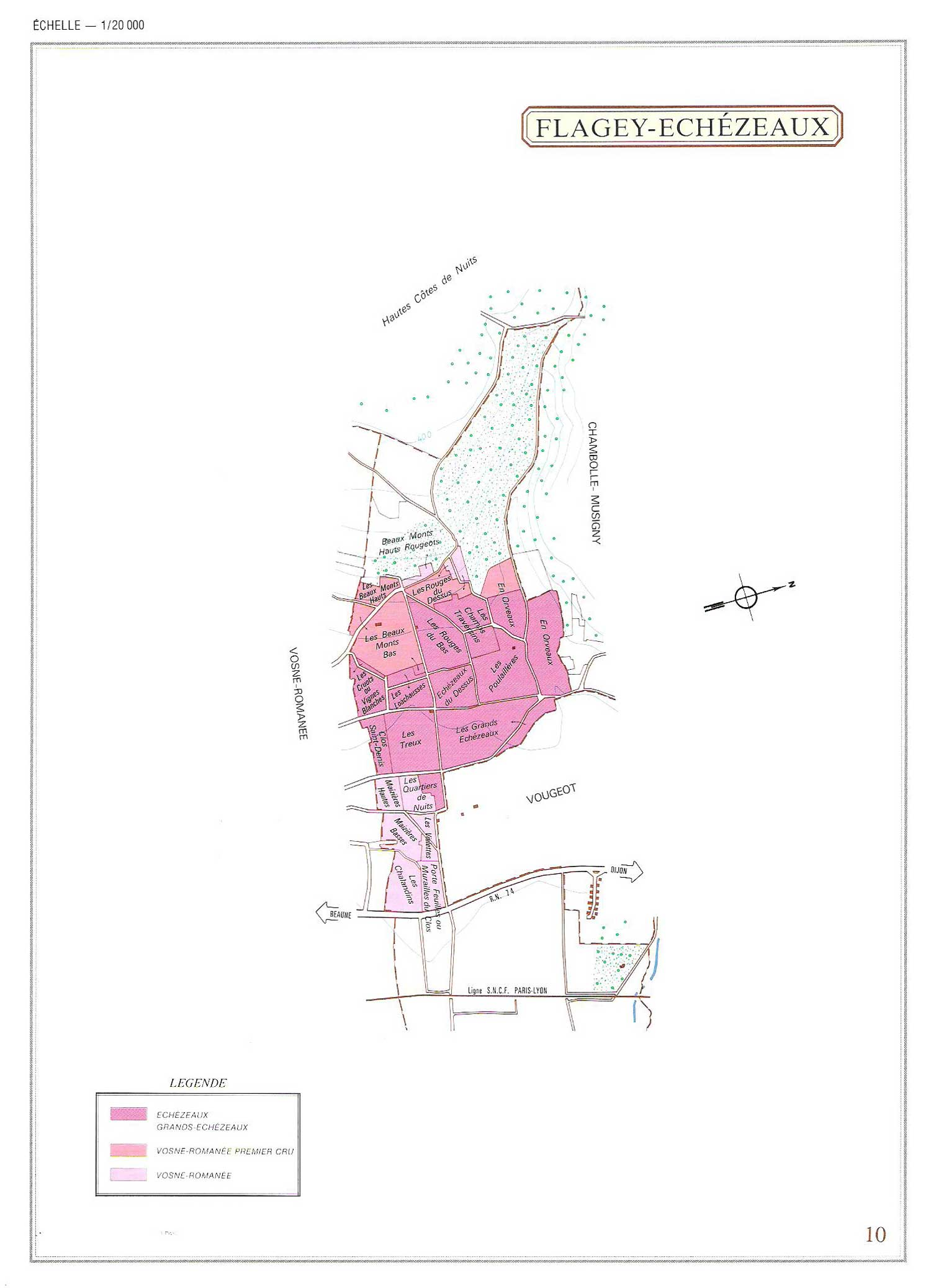 Picture of Flagey-Echezeaux Vineyard Map