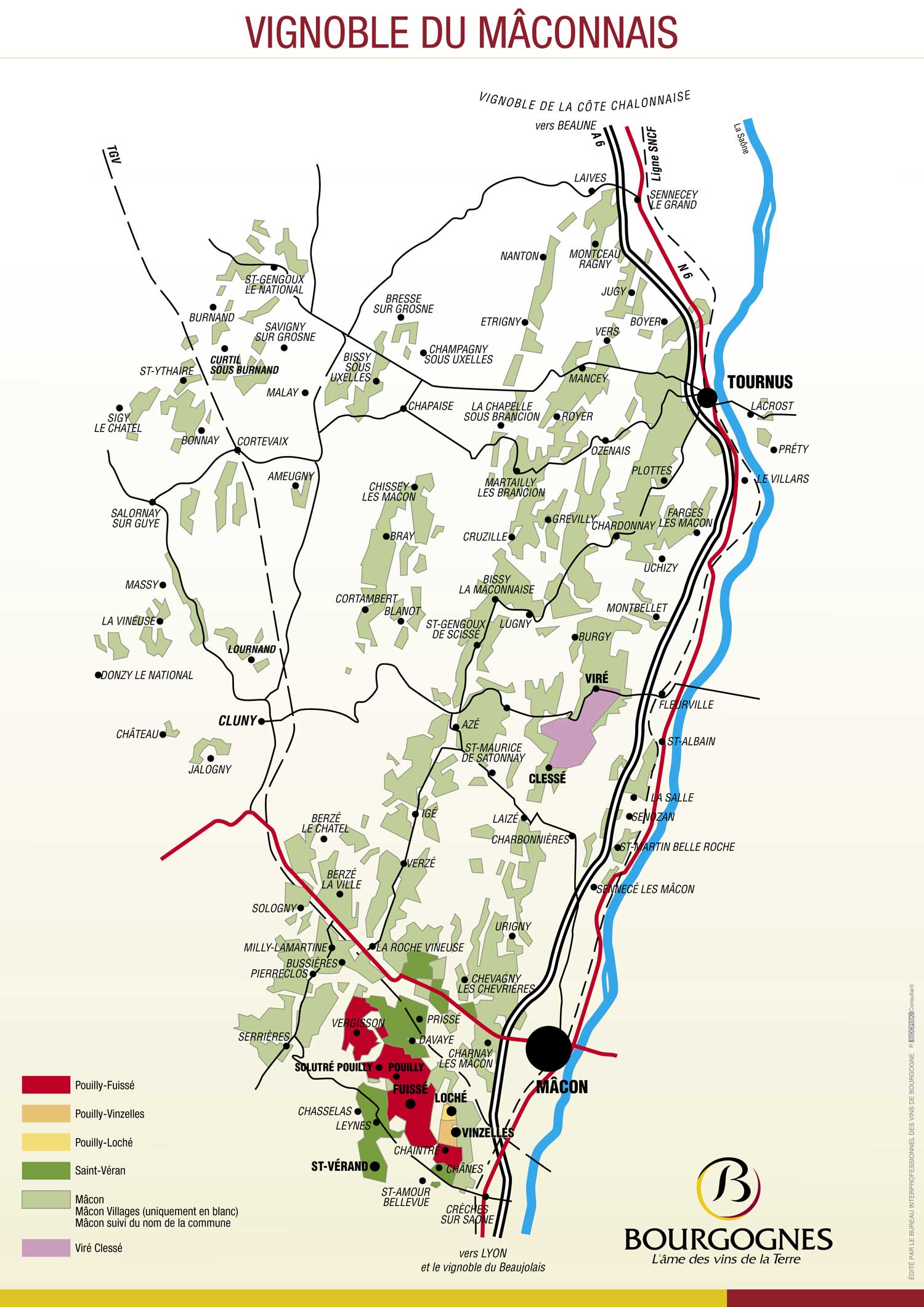 Picture of Pouilly-Fuisse Vineyard Map
