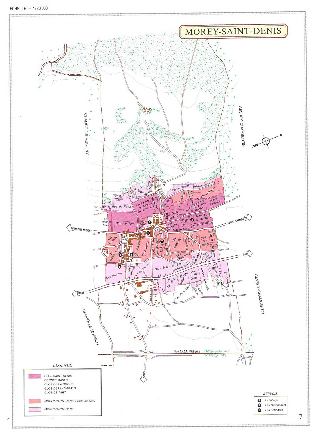 Picture of Morey-Saint Denis Vineyard Map