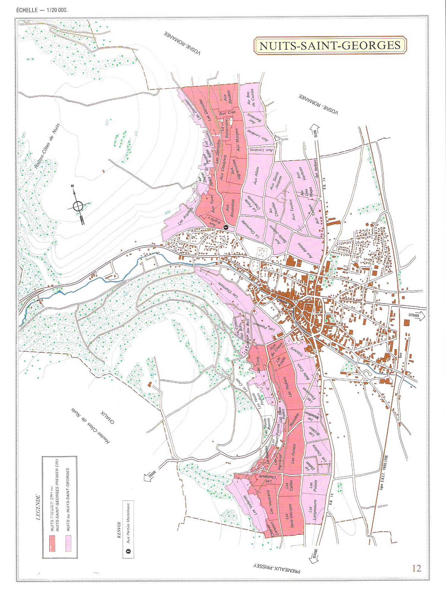 Picture of Nuits-Saint Georges Vineyard Map