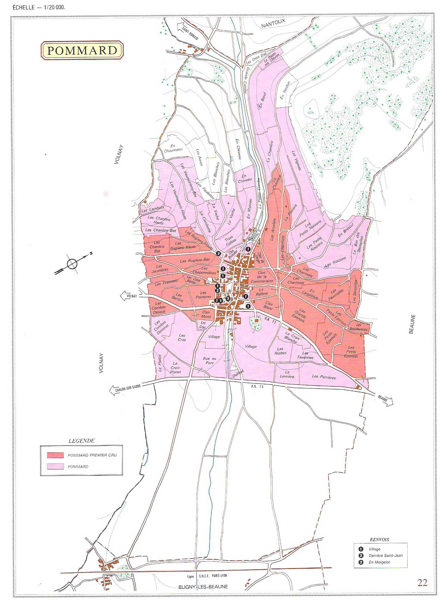 Picture of Pommard Vineyard Map