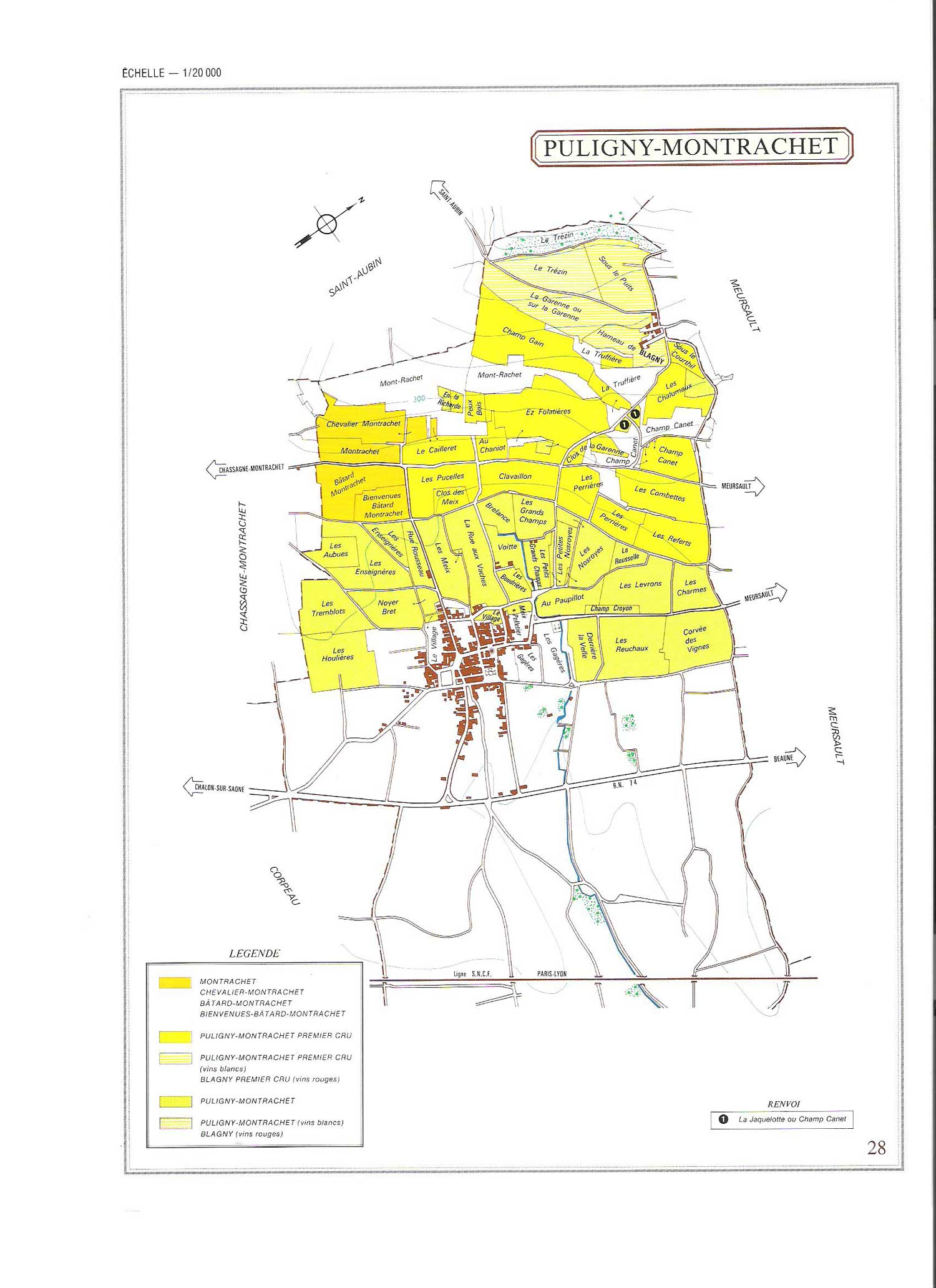 Picture of Puligny-Montrachet Vineyard Map