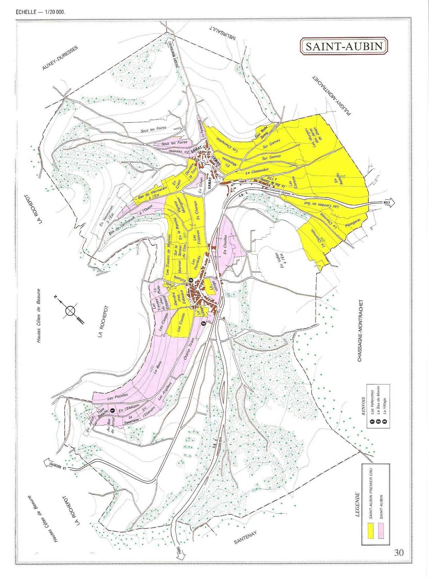 Picture of Saint Aubin Vineyard Map