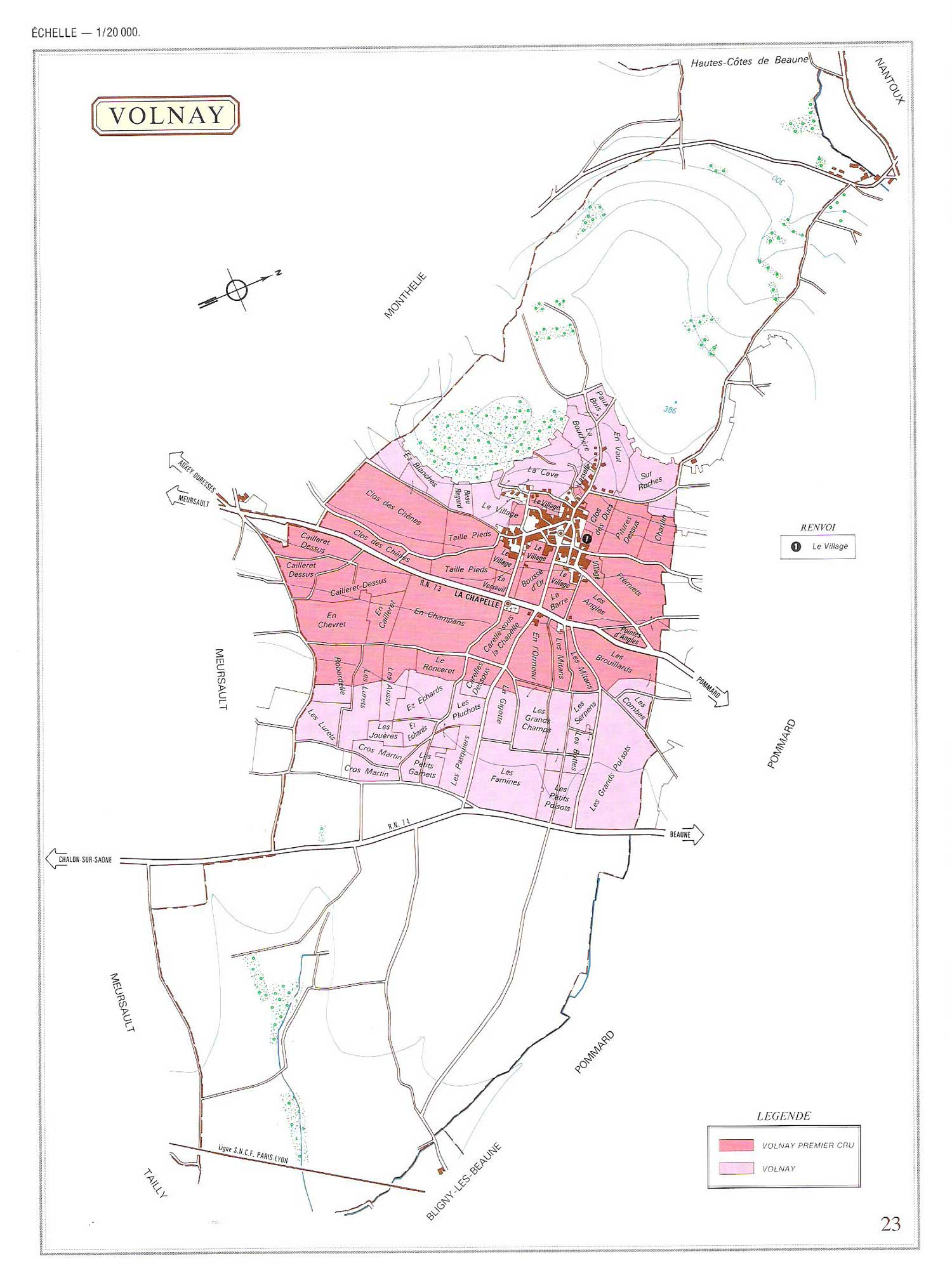 Picture of Volnay Vineyard Map