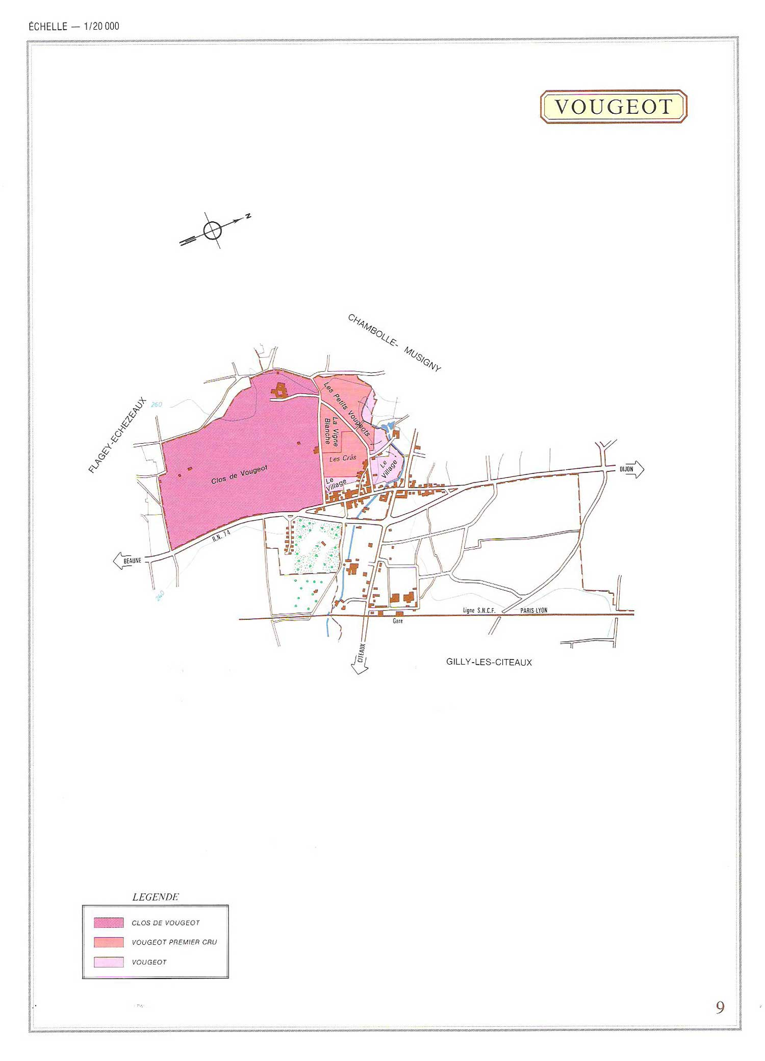 Picture of Vougeot Vineyard Map