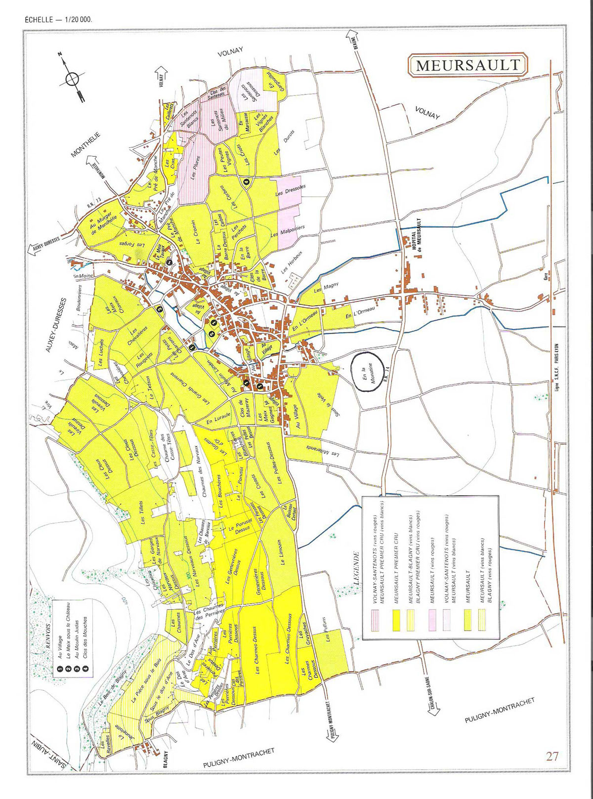 Picture of Meursault Vineyard Map