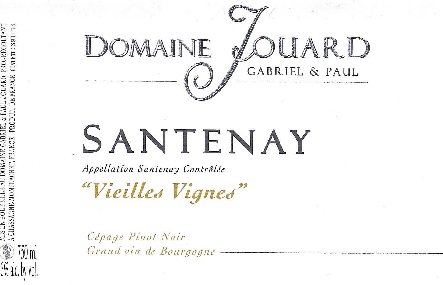 Paul Jouard Santenay Village Vieilles Vignes
