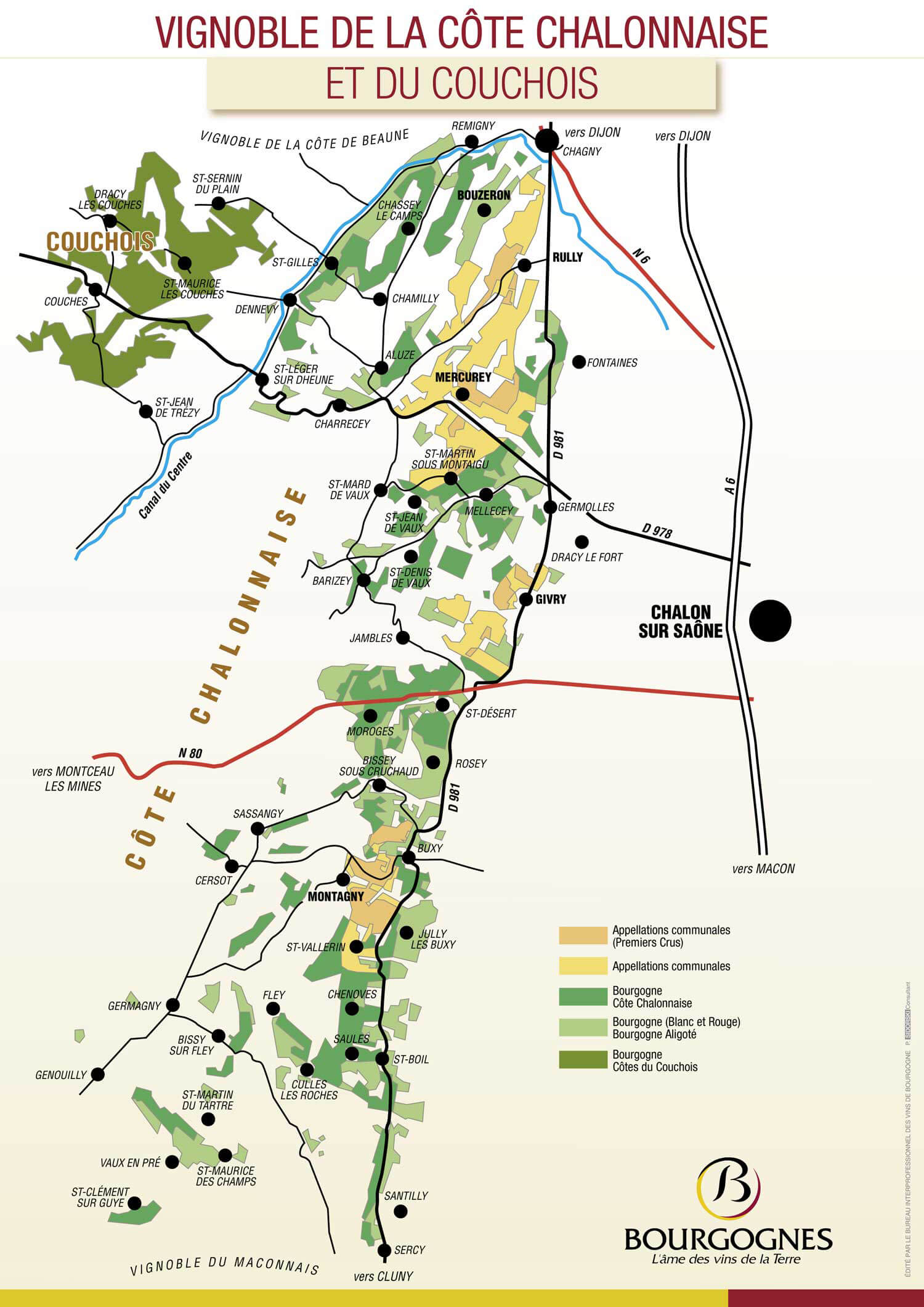 Picture of Givry Vineyard Map