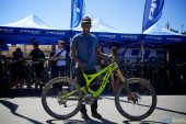 , Pivot Cycles Team at Sea Otter | Emilie Siegenthaler, Bernard Kerr, Eliot Jackson
