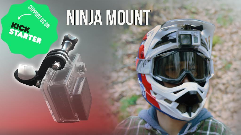 , Ninja Mount Puts A Helmet Camera Under Visor Cleanly – GoPro , Garmin, Rolleri