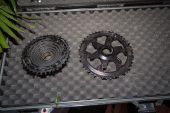 , e*thirteen TRS Plus 9-50t 12speed cassette, Lazer Sport Impala+Coyote MIPS Helmets, Spurcycle Bell, Titanium Multi-Tool
