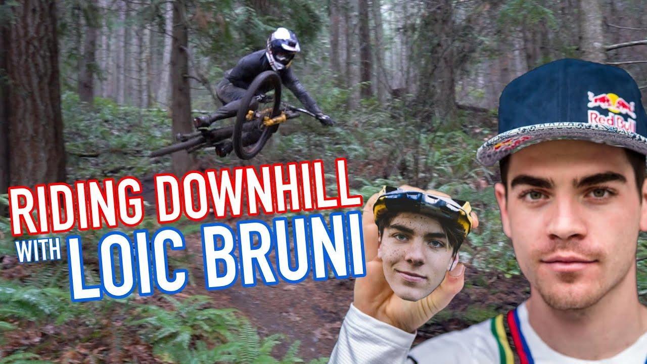 , Riding Downhill With Loic Bruni and Finn Iles – Mt Prevost