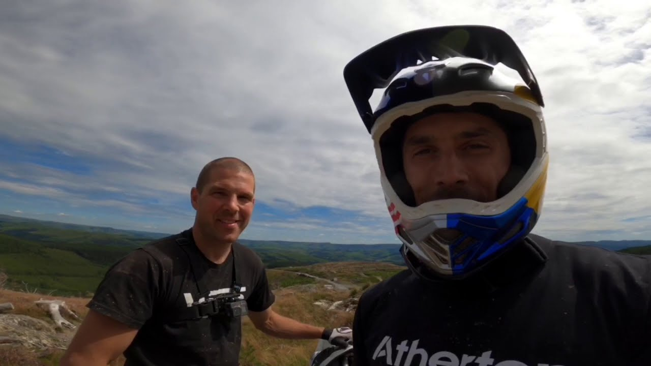 , DYFI Bike Park – Red Track With Dan and Gee Atherton