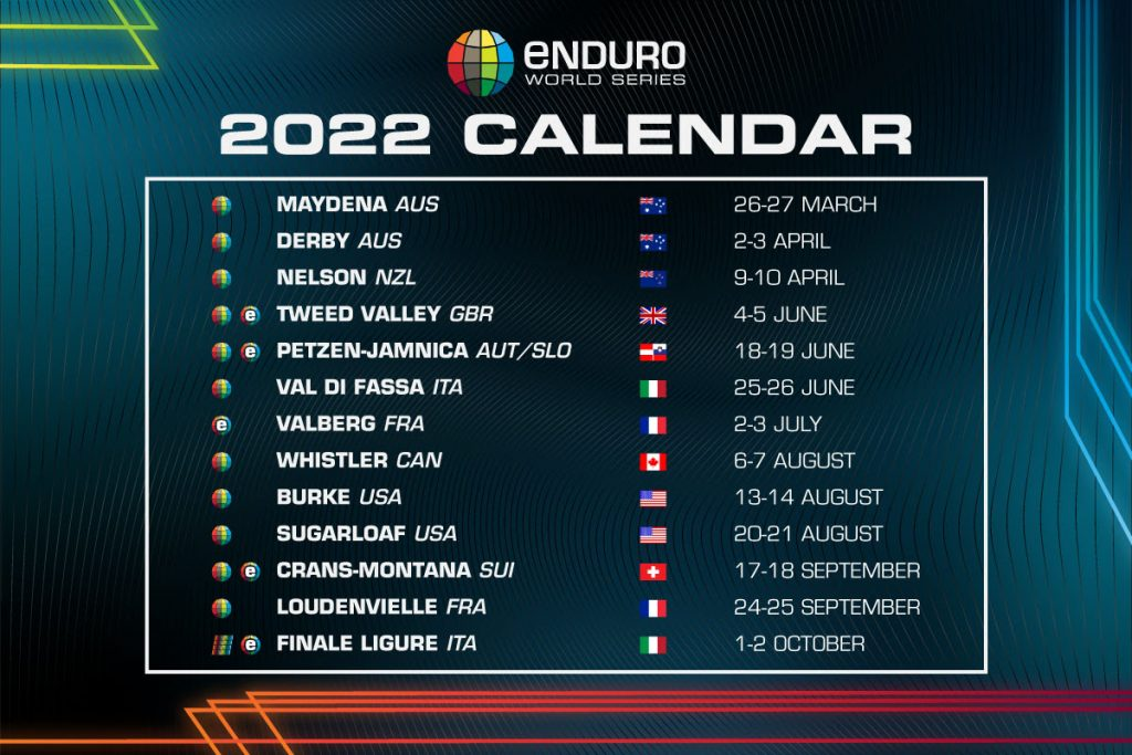 , 2022 Enduro World Series Calendar Launched