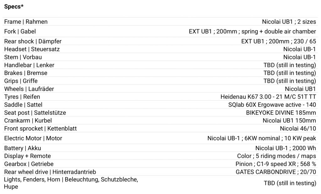 Nicolai Eboxx Ultra eMTB and EMoto, Nicolai EBOXX Ultra eMTB and EMoto