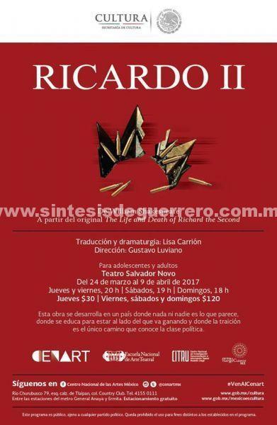 Inicia temporada Ricardo II, puesta en escena sobre el poder y la traición