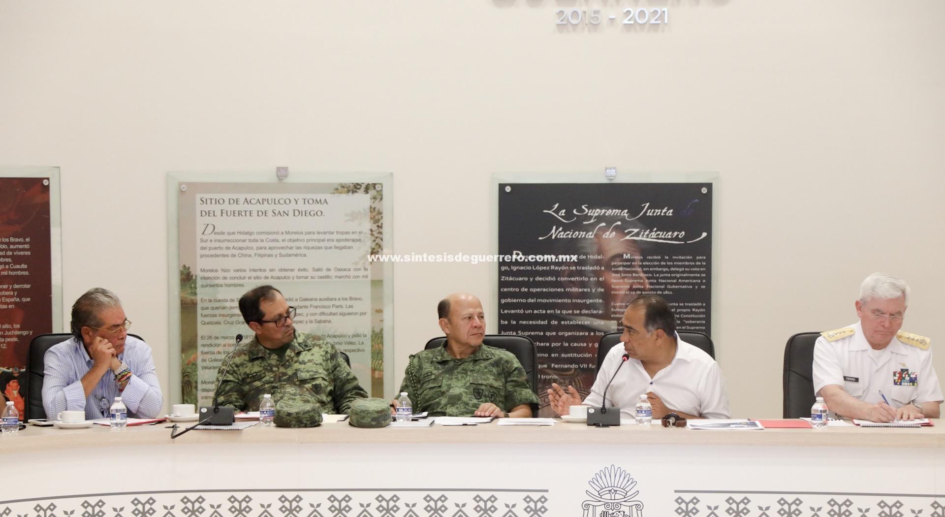 Acuerda grupo de coordinación Guerrero fortalecer estrategia de seguridad
