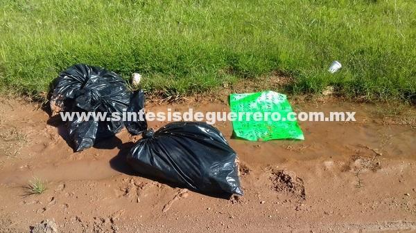 Dejan a tres embolsados en calles de Chilapa