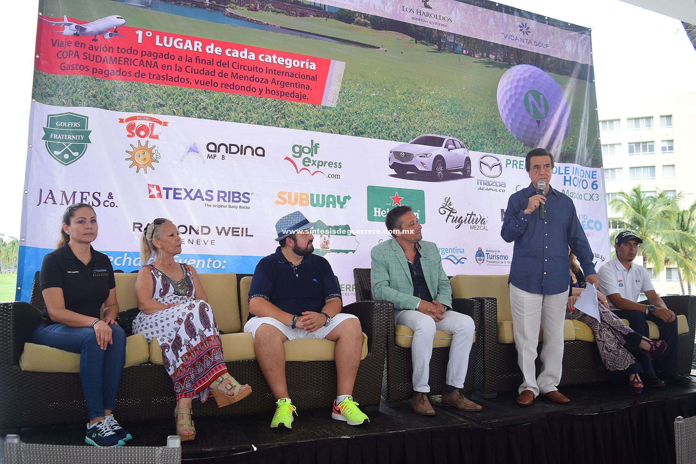 """Acapulco es sede del segundo Torneo del Circuito Internacional de Golf """"Por los caminos del vino"""""""