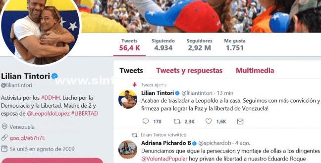 Leopoldo López de nuevo a su residencia bajo arresto domiciliario