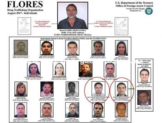 'Rafa' Márquez y Julión Álvarez en la lista negra de EU