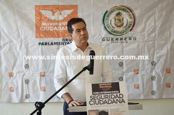 Foro Internacional sobre seguridad ciudadana anuncia Ricardo Mejía Berdeja