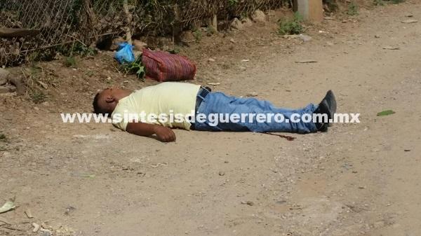 Ejecutan a un hombre en la colonia Campo de Aviación, en Tlapa