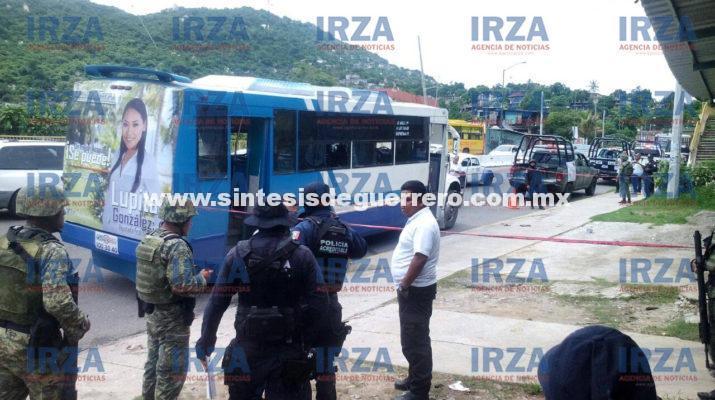 Lo matan a balazos cuando agredía a pasajeros de un camión, en Acapulco