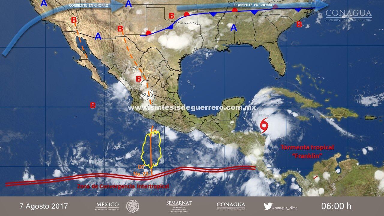 Se pronostican lluvias muy fuertes en Guerrero