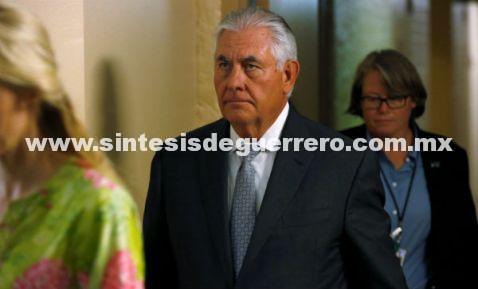 Rex Tillerson ofrece ayuda a México tras sismo y huracán