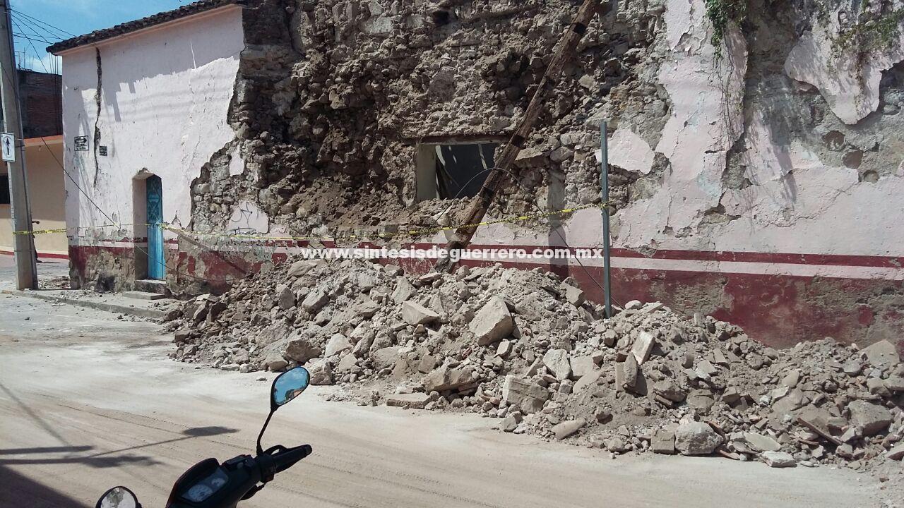 Daños a causa del sismo en Guerrero