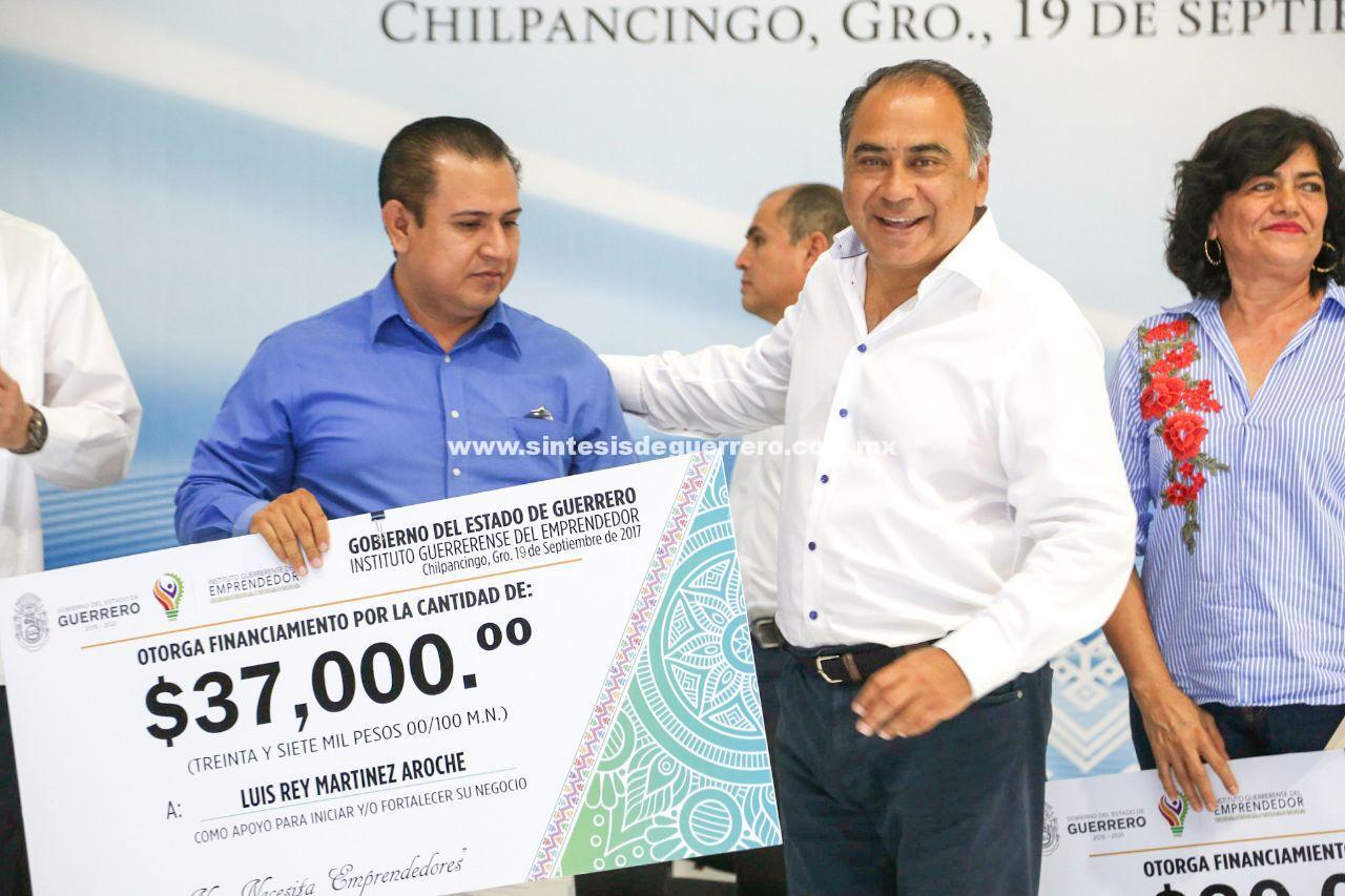 Anuncia Astudillo 100 MDP para apoyar a emprendedores guerrerense