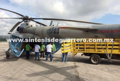 Se desploma helicóptero de Sedena en Chiapas; transportaba ayuda humanitaria