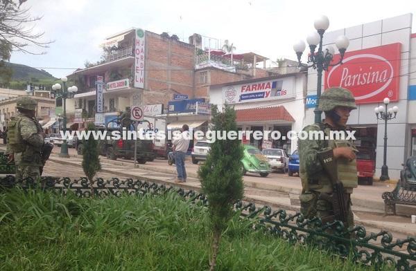 Militares refuerzan seguridad en Chilapa, tras jornada violenta
