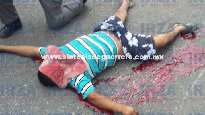 Muere motociclista sobre la carretera Iguala-Chilpancingo