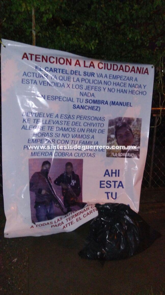 Dejan restos de un hombre en tres sitios diferentes de Chilpancingo