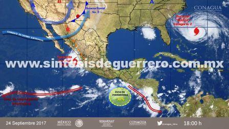 Prevé protección civil lluvias en Guerrero