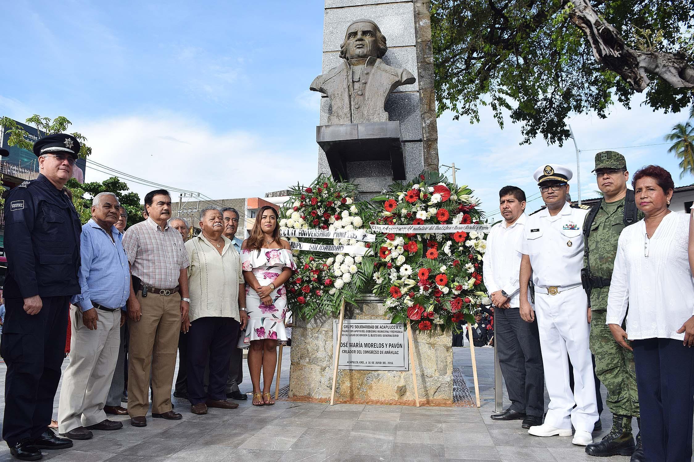 Conmemora gobierno de Acapulco 252 Aniversario del Natalicio de José María Morelos y Pavón
