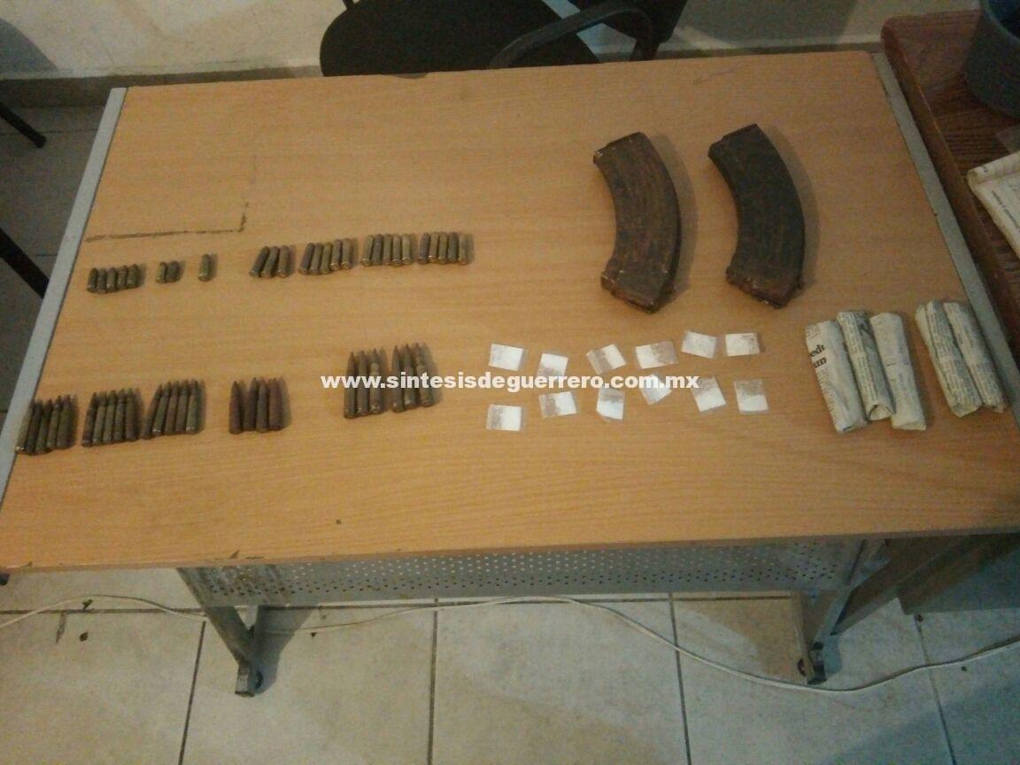 Aseguran municiones y enervantes en Acapulco