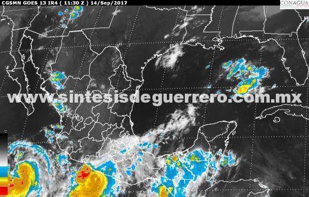 Por fuertes lluvias el municipio de Acapulco determina suspensión de clases en todos los niveles educativos