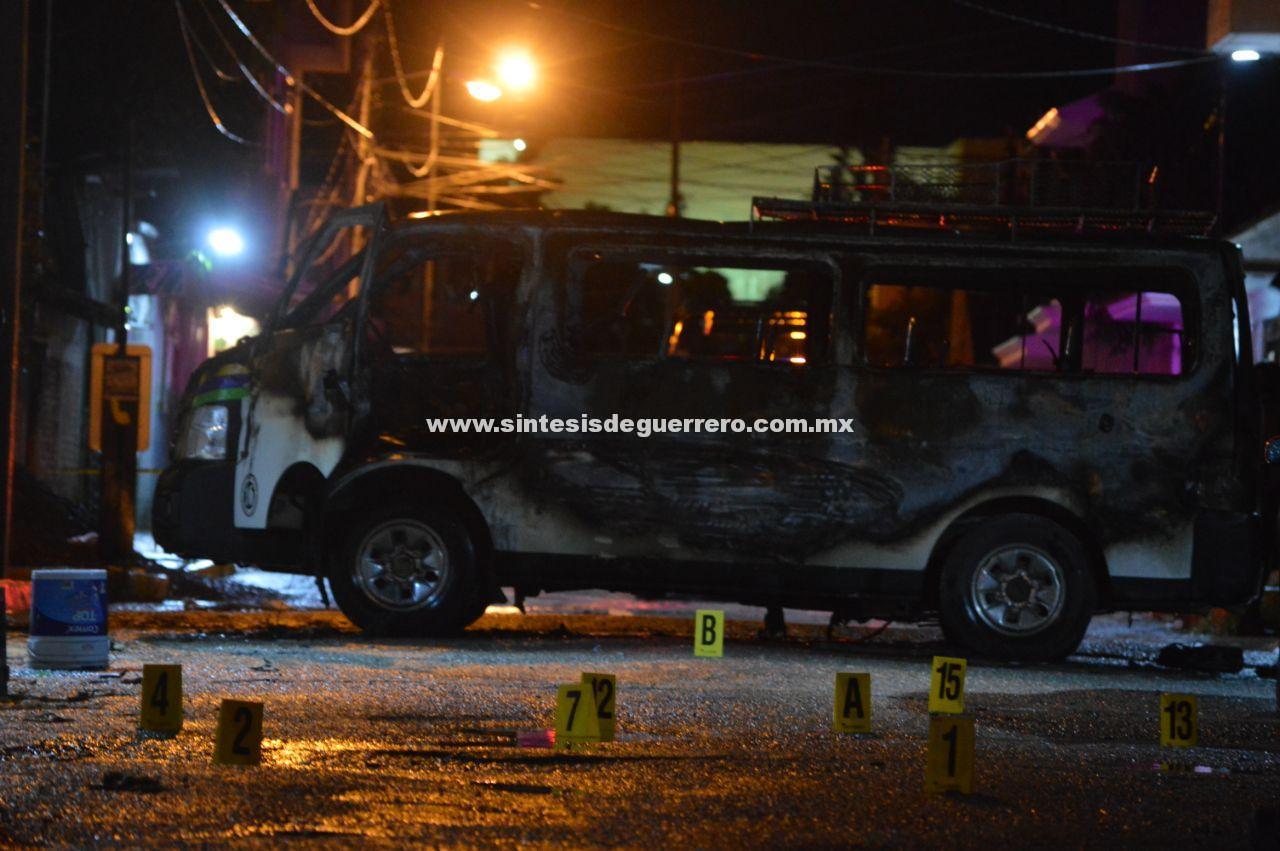 Chilpancingo: ataque con granada y AK-47 en base de combis de Tlacotepec; un muerto