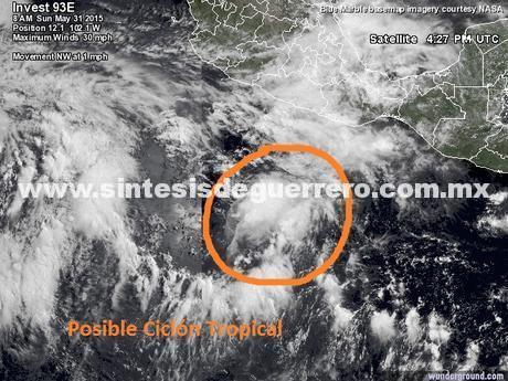 pronóstico de Ciclón Tropical para el sur del estado de Guerrero: Protección Civil
